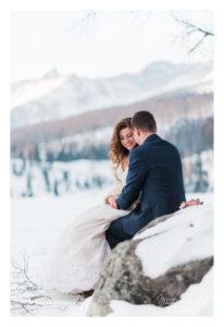 zimné svadobné fotenie