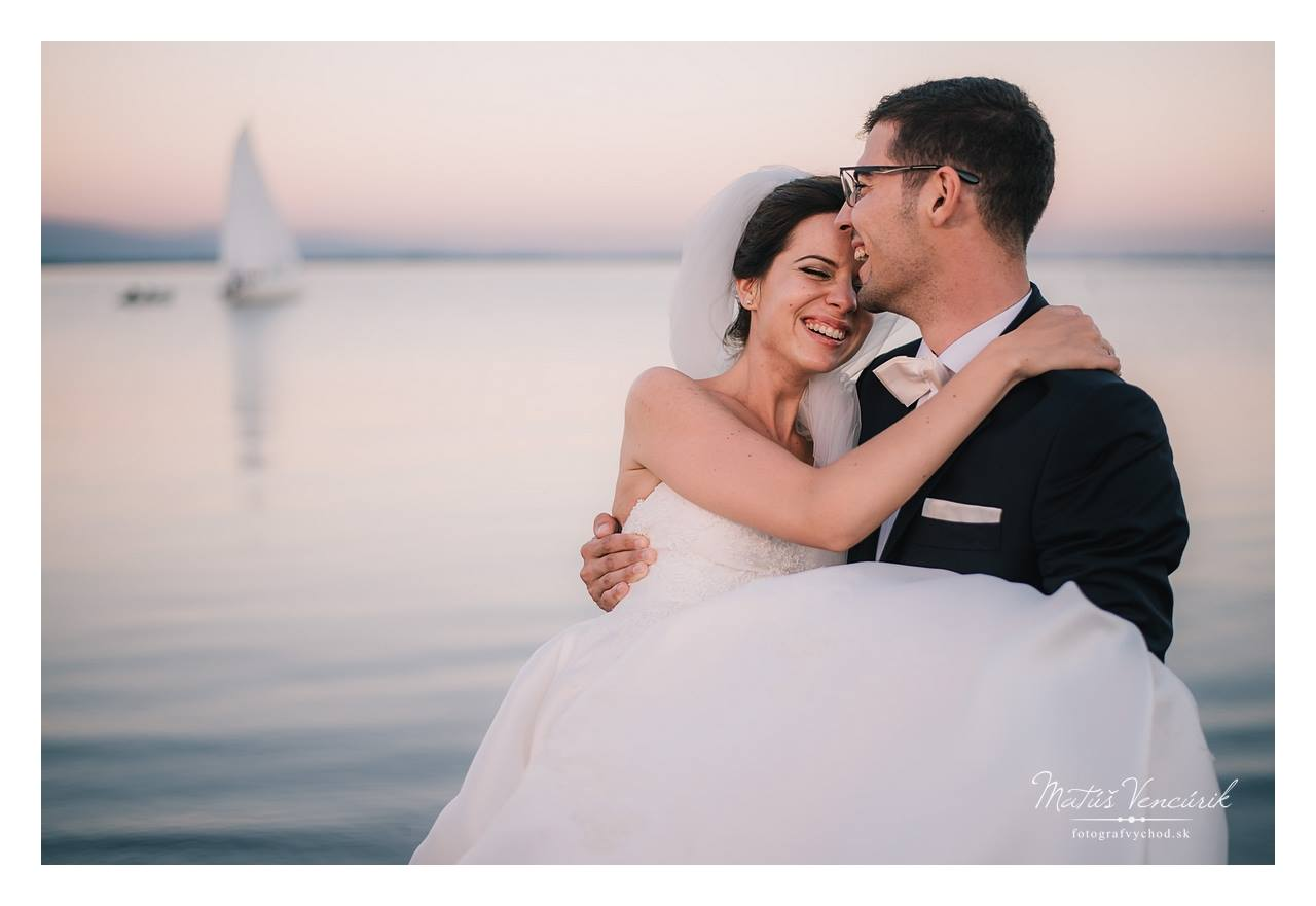 Zemplínska Šírava, svadobné foto
