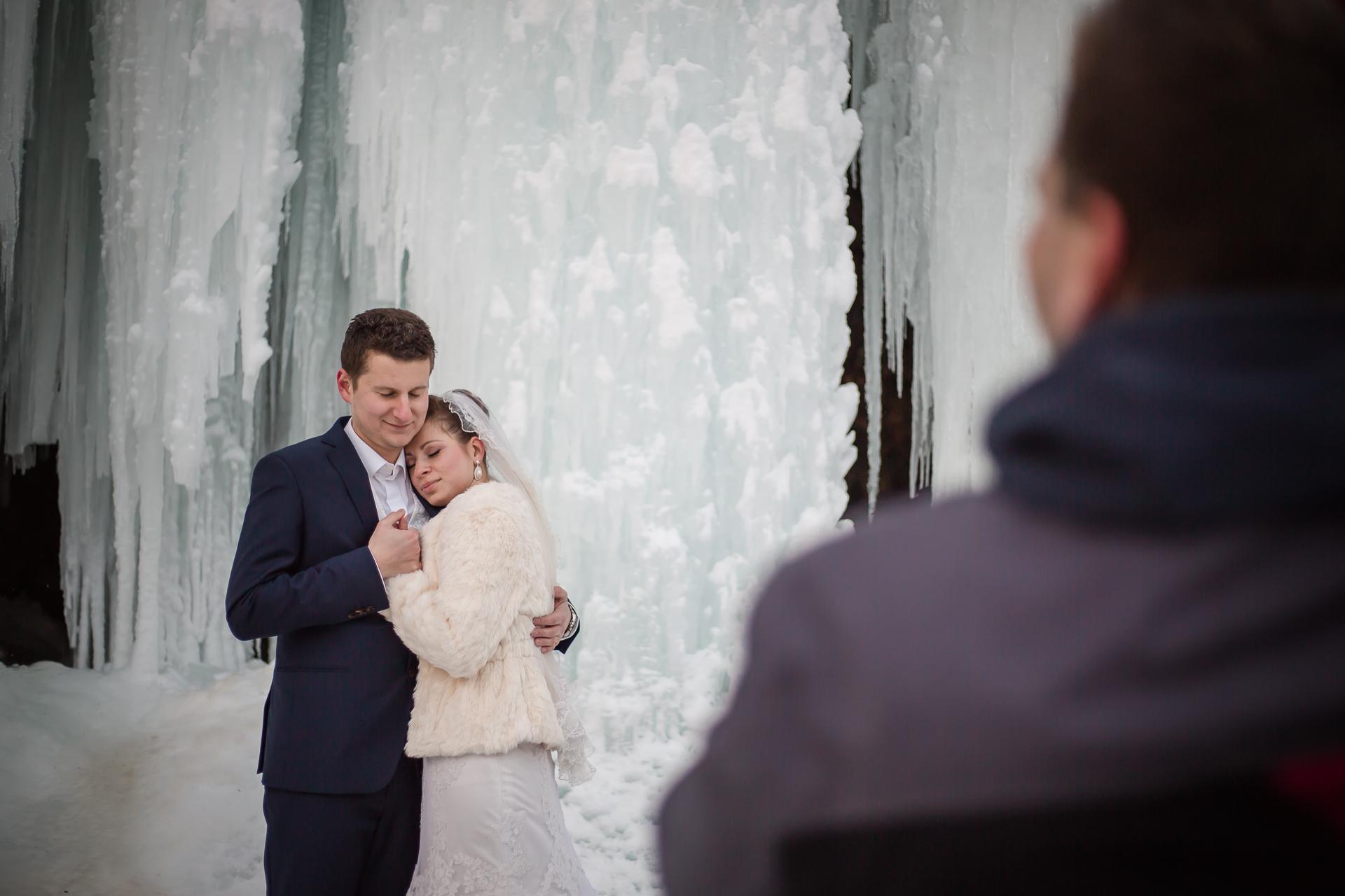 Ľadopád Šikľavá skala, svadobné fotky
